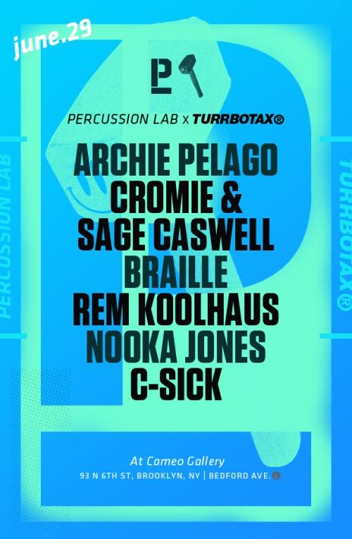 TURRBOTAX® x Percussion Lab