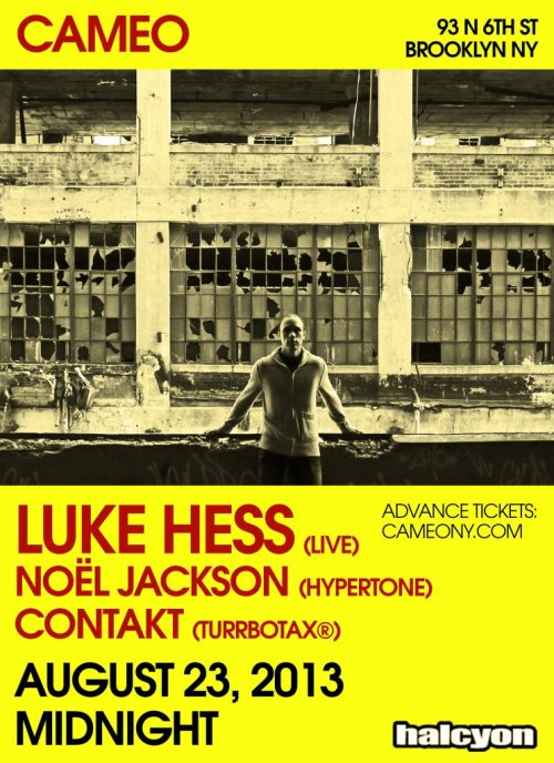 Contakt @ Cameo with Luke Hess and Noel Jackson